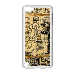 Mystery Pattern Pyramid Peru Aztec Font Art Drawing Illustration Design Text Mexico History Indian Apple Ipod Touch 5 Case (white) by Celenk