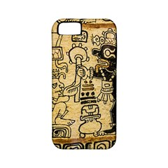 Mystery Pattern Pyramid Peru Aztec Font Art Drawing Illustration Design Text Mexico History Indian Apple iPhone 5 Classic Hardshell Case (PC+Silicone)