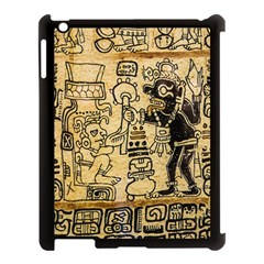Mystery Pattern Pyramid Peru Aztec Font Art Drawing Illustration Design Text Mexico History Indian Apple iPad 3/4 Case (Black)