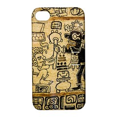Mystery Pattern Pyramid Peru Aztec Font Art Drawing Illustration Design Text Mexico History Indian Apple iPhone 4/4S Hardshell Case with Stand