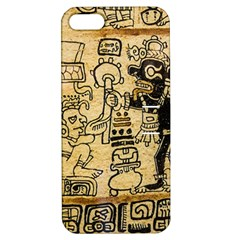 Mystery Pattern Pyramid Peru Aztec Font Art Drawing Illustration Design Text Mexico History Indian Apple Iphone 5 Hardshell Case With Stand by Celenk