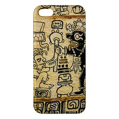 Mystery Pattern Pyramid Peru Aztec Font Art Drawing Illustration Design Text Mexico History Indian Apple iPhone 5 Premium Hardshell Case