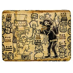 Mystery Pattern Pyramid Peru Aztec Font Art Drawing Illustration Design Text Mexico History Indian Samsung Galaxy Tab 7  P1000 Flip Case