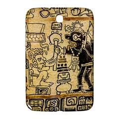 Mystery Pattern Pyramid Peru Aztec Font Art Drawing Illustration Design Text Mexico History Indian Samsung Galaxy Note 8.0 N5100 Hardshell Case