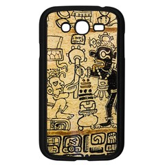 Mystery Pattern Pyramid Peru Aztec Font Art Drawing Illustration Design Text Mexico History Indian Samsung Galaxy Grand DUOS I9082 Case (Black)