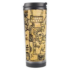 Mystery Pattern Pyramid Peru Aztec Font Art Drawing Illustration Design Text Mexico History Indian Travel Tumbler by Celenk