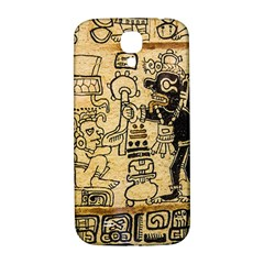 Mystery Pattern Pyramid Peru Aztec Font Art Drawing Illustration Design Text Mexico History Indian Samsung Galaxy S4 I9500/I9505  Hardshell Back Case