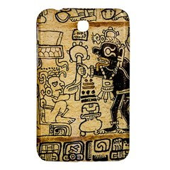 Mystery Pattern Pyramid Peru Aztec Font Art Drawing Illustration Design Text Mexico History Indian Samsung Galaxy Tab 3 (7 ) P3200 Hardshell Case
