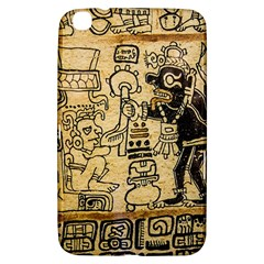 Mystery Pattern Pyramid Peru Aztec Font Art Drawing Illustration Design Text Mexico History Indian Samsung Galaxy Tab 3 (8 ) T3100 Hardshell Case