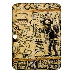 Mystery Pattern Pyramid Peru Aztec Font Art Drawing Illustration Design Text Mexico History Indian Samsung Galaxy Tab 3 (10.1 ) P5200 Hardshell Case