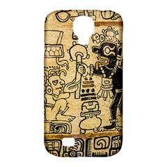 Mystery Pattern Pyramid Peru Aztec Font Art Drawing Illustration Design Text Mexico History Indian Samsung Galaxy S4 Classic Hardshell Case (PC+Silicone)