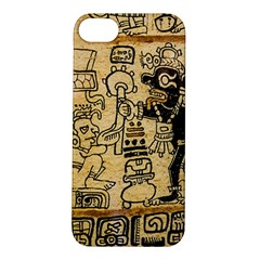 Mystery Pattern Pyramid Peru Aztec Font Art Drawing Illustration Design Text Mexico History Indian Apple iPhone 5S/ SE Hardshell Case