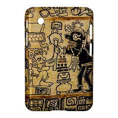 Mystery Pattern Pyramid Peru Aztec Font Art Drawing Illustration Design Text Mexico History Indian Samsung Galaxy Tab 2 (7 ) P3100 Hardshell Case