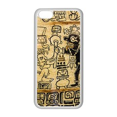 Mystery Pattern Pyramid Peru Aztec Font Art Drawing Illustration Design Text Mexico History Indian Apple iPhone 5C Seamless Case (White)