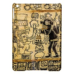 Mystery Pattern Pyramid Peru Aztec Font Art Drawing Illustration Design Text Mexico History Indian iPad Air Hardshell Cases