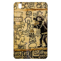 Mystery Pattern Pyramid Peru Aztec Font Art Drawing Illustration Design Text Mexico History Indian Samsung Galaxy Tab Pro 8.4 Hardshell Case