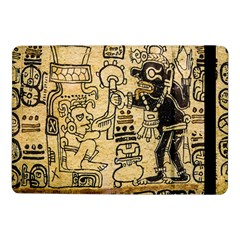Mystery Pattern Pyramid Peru Aztec Font Art Drawing Illustration Design Text Mexico History Indian Samsung Galaxy Tab Pro 10.1  Flip Case