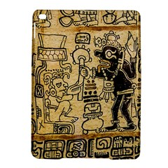 Mystery Pattern Pyramid Peru Aztec Font Art Drawing Illustration Design Text Mexico History Indian iPad Air 2 Hardshell Cases