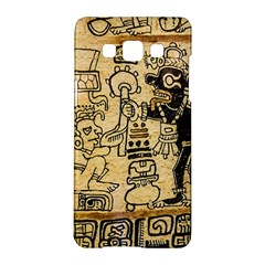 Mystery Pattern Pyramid Peru Aztec Font Art Drawing Illustration Design Text Mexico History Indian Samsung Galaxy A5 Hardshell Case