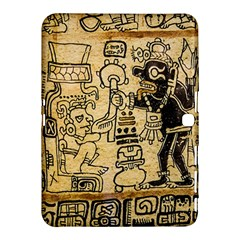 Mystery Pattern Pyramid Peru Aztec Font Art Drawing Illustration Design Text Mexico History Indian Samsung Galaxy Tab 4 (10.1 ) Hardshell Case