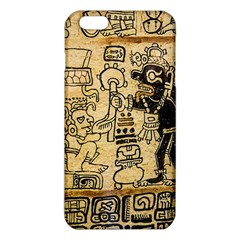 Mystery Pattern Pyramid Peru Aztec Font Art Drawing Illustration Design Text Mexico History Indian iPhone 6 Plus/6S Plus TPU Case