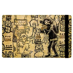 Mystery Pattern Pyramid Peru Aztec Font Art Drawing Illustration Design Text Mexico History Indian Apple iPad Pro 9.7   Flip Case