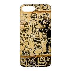 Mystery Pattern Pyramid Peru Aztec Font Art Drawing Illustration Design Text Mexico History Indian Apple iPhone 7 Plus Hardshell Case