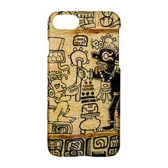 Mystery Pattern Pyramid Peru Aztec Font Art Drawing Illustration Design Text Mexico History Indian Apple iPhone 7 Hardshell Case