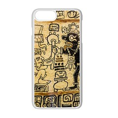 Mystery Pattern Pyramid Peru Aztec Font Art Drawing Illustration Design Text Mexico History Indian Apple iPhone 7 Plus Seamless Case (White)