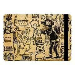 Mystery Pattern Pyramid Peru Aztec Font Art Drawing Illustration Design Text Mexico History Indian Apple iPad Pro 10.5   Flip Case