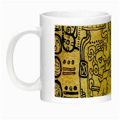 Mystery Pattern Pyramid Peru Aztec Font Art Drawing Illustration Design Text Mexico History Indian Night Luminous Mugs by Celenk