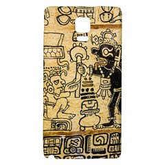 Mystery Pattern Pyramid Peru Aztec Font Art Drawing Illustration Design Text Mexico History Indian Galaxy Note 4 Back Case by Celenk