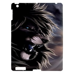 Angry Lion Digital Art Hd Apple Ipad 3/4 Hardshell Case by Celenk