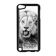 Lion Wildlife Art And Illustration Pencil Apple Ipod Touch 5 Case (black) by Celenk