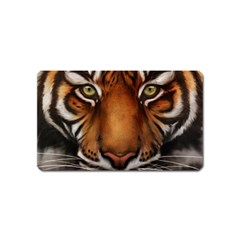 The Tiger Face Magnet (name Card) by Celenk