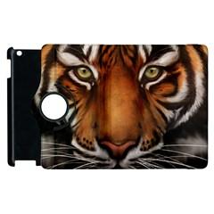The Tiger Face Apple Ipad 2 Flip 360 Case by Celenk