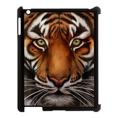 The Tiger Face Apple Ipad 3/4 Case (black) by Celenk