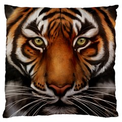The Tiger Face Standard Flano Cushion Case (one Side) by Celenk