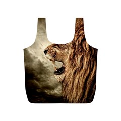 Roaring Lion Full Print Recycle Bags (s)  by Celenk