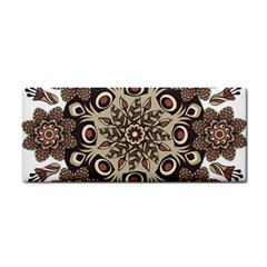 Mandala Pattern Round Brown Floral Cosmetic Storage Cases by Celenk