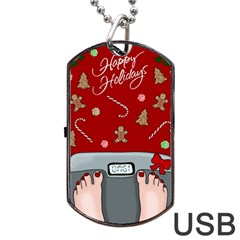 Hilarious Holidays  Dog Tag Usb Flash (two Sides) by Valentinaart