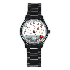 Hilarious Holidays  Stainless Steel Round Watch by Valentinaart