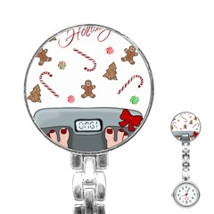 Hilarious Holidays  Stainless Steel Nurses Watch by Valentinaart