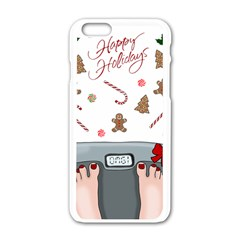 Hilarious Holidays  Apple Iphone 6/6s White Enamel Case by Valentinaart