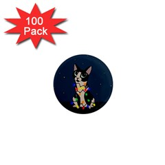 Meowy Christmas 1  Mini Magnets (100 Pack)  by Valentinaart