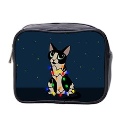 Meowy Christmas Mini Toiletries Bag 2 Side by Valentinaart
