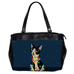 Meowy Christmas Office Handbags (2 Sides)  by Valentinaart