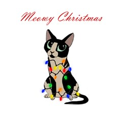 Meowy Christmas Magic Photo Cubes by Valentinaart