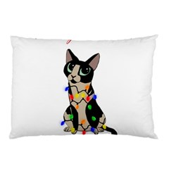Meowy Christmas Pillow Case (two Sides) by Valentinaart