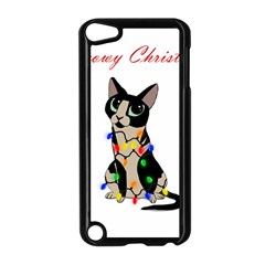 Meowy Christmas Apple Ipod Touch 5 Case (black) by Valentinaart